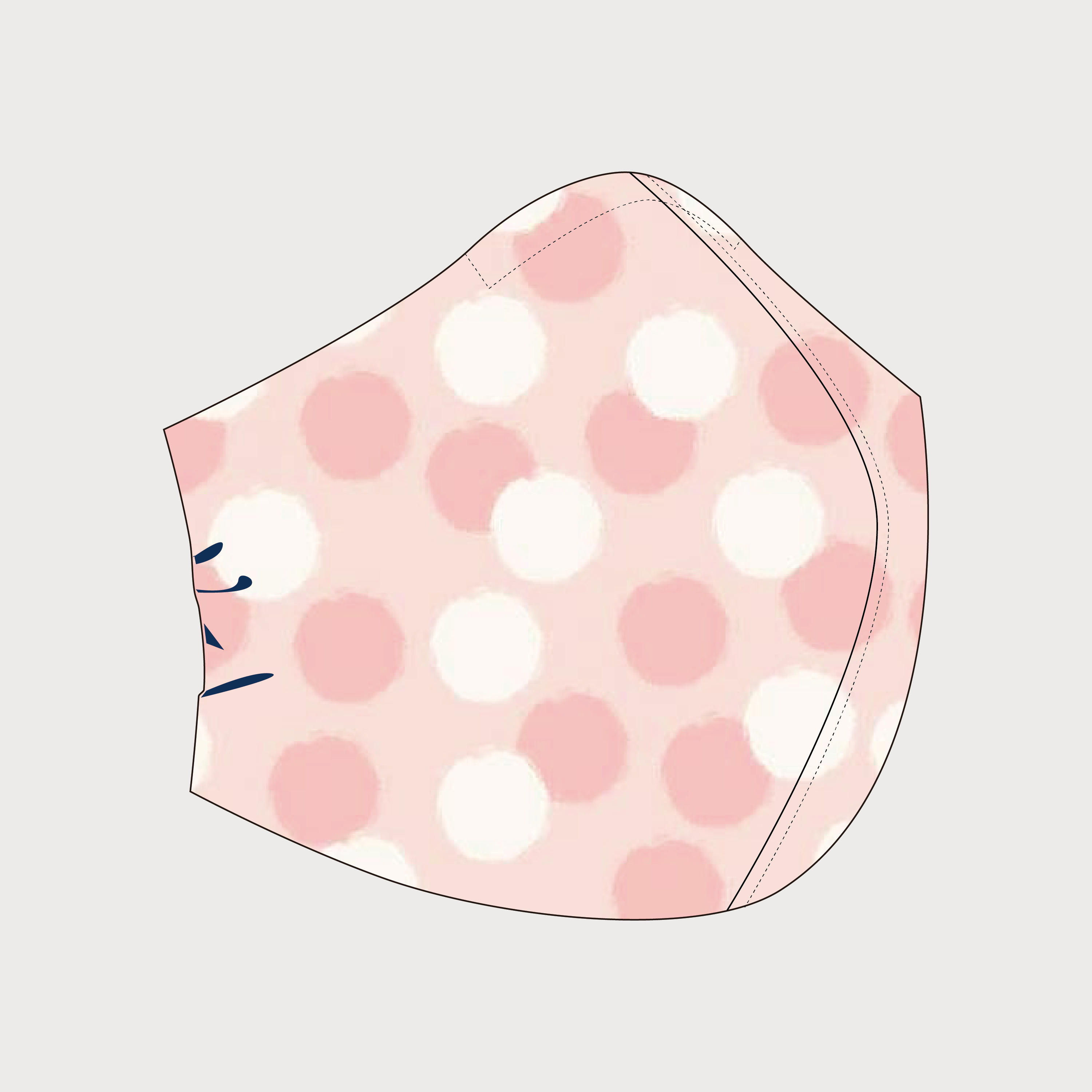 Spunky Mask (Puffs on Pink) Front
